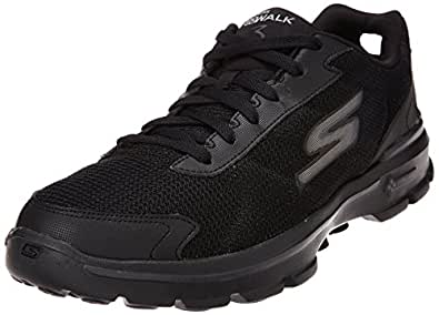 Skechers Men's Go Walk 3-Fitknit Black Nordic Walking Shoes - 6 UK/India (39.5 EU) (7 US)