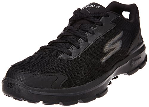 Skechers Men's GOwalk 3 FitKnit Fitness Shoes, Black (BBK), 8 UK (42.5 EU)