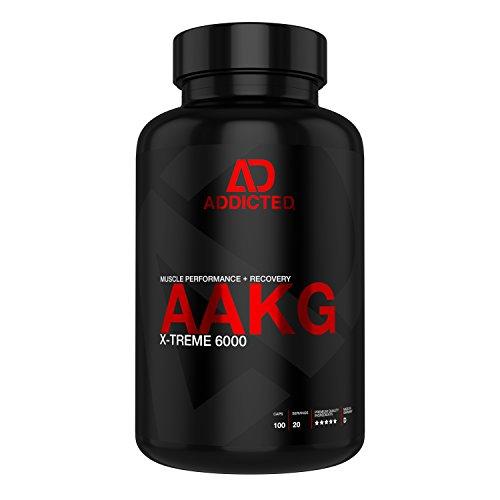 AAKG X-Treme 6000 von ADDICTED® • hochdosierte 1200 mg L-Arginin Alpha Ketoglutarat pro Kapsel • Aminosäure für mehr Muskelpump • Für Bodybuilding und Fitness