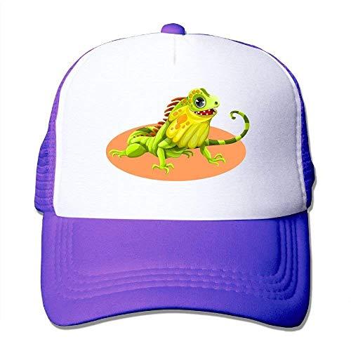 Reptile Lizard Cartoon Adjustable Sports Mesh Baseball Caps Trucker Cap Sun Hats Captain Fleece
