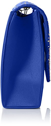 SwankySwansAbby Diamante Envelope Style Bag - Sacchetto donna Blue (Royal Blue)