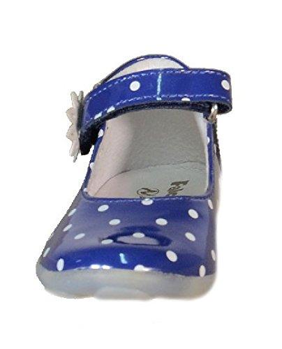 Naturino-Falcotto Falcotto Ballerines Fille Bleu 175 Bride Cuir a Pois Bleu - bleu