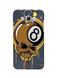 Gobzu Printed Hard Case Back Cover for Samsung Galaxy Grand Max - Skull Bomb
