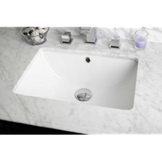 American Imaginations 18.25-in. W x 13.5-in. D Rectangle Undermount Sink In White Color by American Imaginations