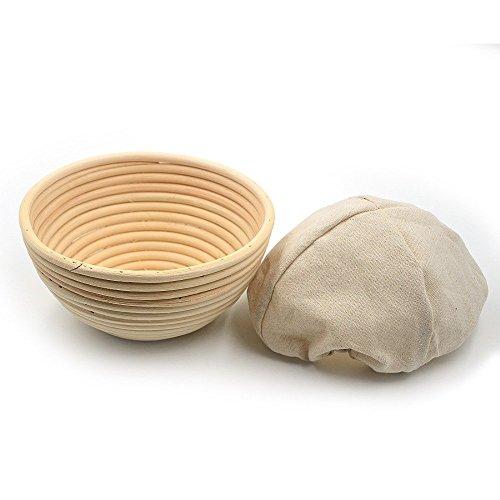 Brot-korb Aluminium (Gärkörbchen für brot,Birkmann Gärkörbchen,Brotteig Korb (18cm*9cm))