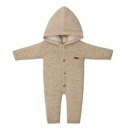 Baby Strick-Overall Lammfelloptik Größe 68