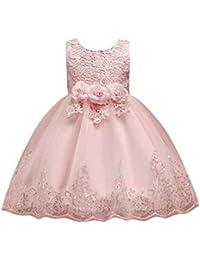 Vestito frozen bambina e ragazze Abito Principessa Vestito da Cerimonia per  la damigella Floreale Abito lungo ea60c3f70b8