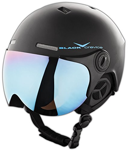 Black Crevice Skihelm - Casco de ski, color Negro/Azul (Black/Blue), t