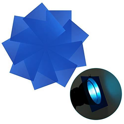 Neewer 9-Pack Gelfilter, Farbige Platten, Transparente Farbfolie, Korrekturgel-Lichtfilter für Fotostudio-Blitzlicht, LED-Videoleuchte, DJ-Licht usw. 11,8x7,9 Zoll (Blau) -