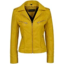 Winterjacke mit gelben band