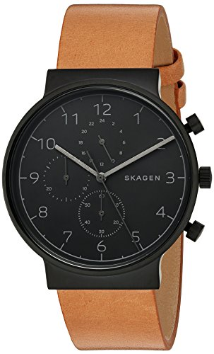 Skagen SKW6359 Ancher Brun Cuir chronographe Montre Homme