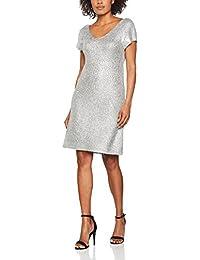 Benetton Metalic Knit Dress, Robe Femme
