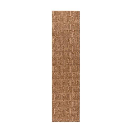 Flair Rugs - Alfombra alargada para pasillo modelo Skyline Pinnacle (67x300cm/Marrón)