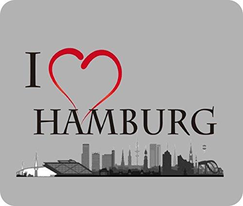 """Preisvergleich Produktbild Mousepad / Mauspad """" I love Hamburg """" Mousepad - lustige mousepads - Geschenkartikel - Computerzubehör"""