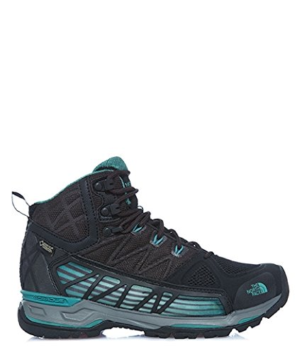 The North Face W Ultra Gtx Surround Mid, Chaussures de Marche Femme Nero (Tnfblck/Deepsea)