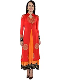 Ira Soleil Women's Polyester Stretch Knit 2 Pcs Set Of Kurta And Inner