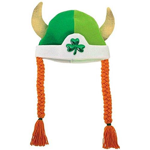 Amscan Viking Bonnet Tresses en Tissu