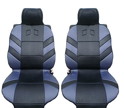 flexzon 1+1 ER BG7 GREY Front Seat Cover, 1+1, Grey Black