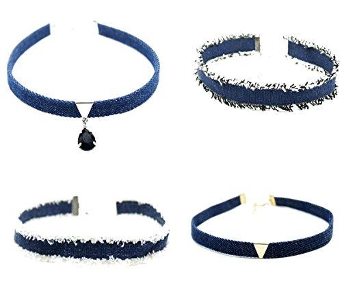 vanki® Ladies Choker Collier Set Punk Gothique Collier Tattoo Velours Dentelle Collier Punk Gothic Collar H-Set