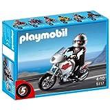 Playmobil - 5117 - Jeu de construction - Moto argentée