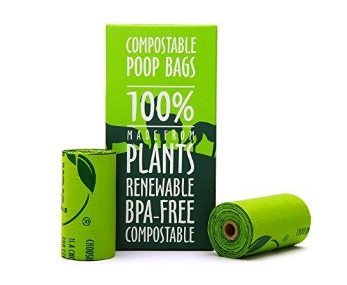 Unni kompostierbar Hundebeutel Nachfüllpack Tasche, 22,9x 33cm Rollen Dog Waste Bags, 120 Count grün (Waste Taschen Hund Poop)