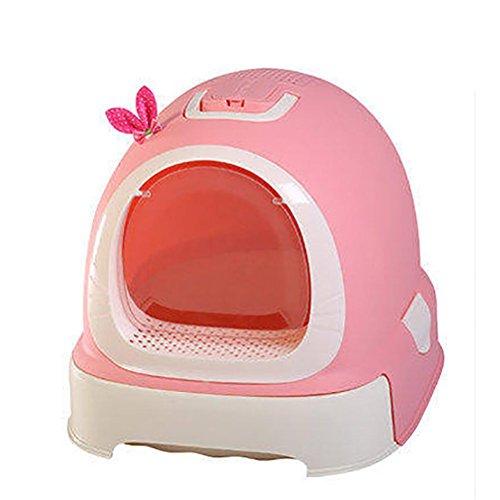 Cat Katzenklo Pink (DAN Tragbares Katzenklo Katzentoilette mit Dach für Katzen , Pink)