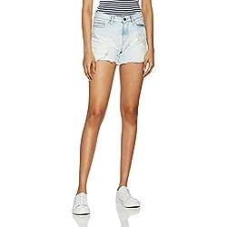 Calvin Klein Jeans Cut Off Midi Short - Vintage Splatter, Pantalones Cortos Mujer, Azul (Vintage Splatter 913), 34 (Talla del Fabricante: 27)