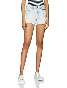 Calvin Klein Cut Off Midi Short-Vintage Splatter, Pantaloncini Donna