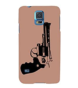 HiFi Designer Phone Back Case Cover Samsung Galaxy S5 :: Samsung Galaxy S5 G900I :: Samsung Galaxy S5 G900A G900F G900I G900M G900T G900W8 G900K ( Gun Ready to fire )