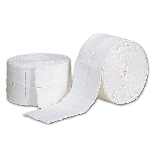 2 rotoli pad cellulosa pretagliata per ricostruzione unghie 1000 pz