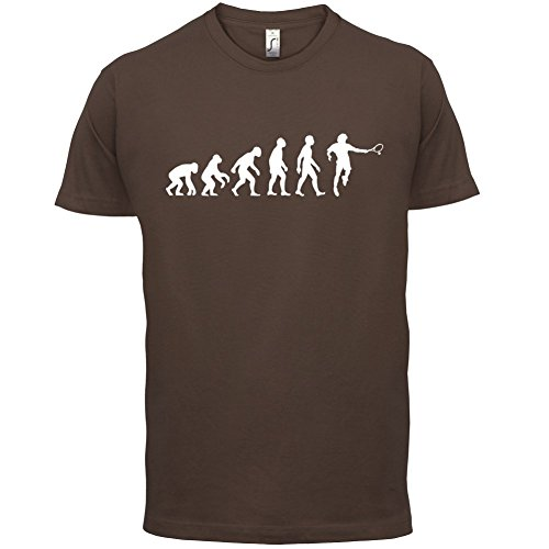 Evolution of Man - Tennis - Herren T-Shirt - 13 Farben Schokobraun
