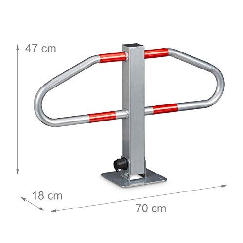 Manual aparcamiento bloqueo barrera de seguridad plegable Metal 70/x 42/cm espacio libre candado
