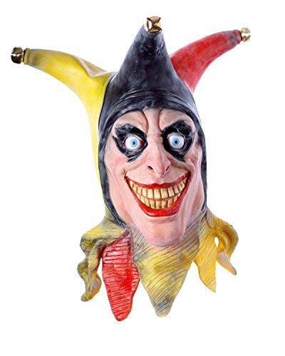 Männer Harlekin Kostüm - Halloween Maske aus Latex. Der Harlekin Horror Clown für Mann und Frau.