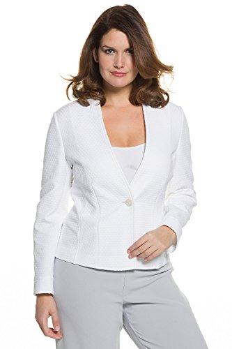 Ulla Popken Femme Grandes tailles Cintrée chic jacquard 704536 Blanc