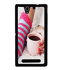 Morning Coffee 2D Hard Polycarbonate Designer Back Case Cover for Sony Xperia C3 Dual :: Sony Xperia C3 Dual D2502