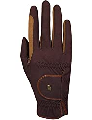 riding gloves Roeck grip -bicolour-, mocca/caramel, 6,5 by Roeckl