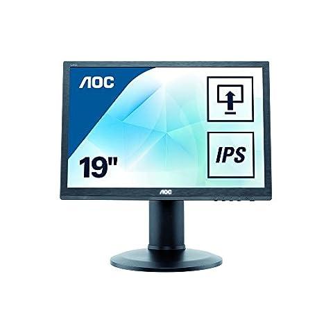 AOC I960PRDA 48,3 cm (19 Zoll) Monitor (VGA, DVI, 1280 x 1024, 60 Hz, Pivot) schwarz
