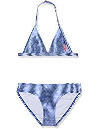 Chiemsee Chica Lana Junior Fix Triangle Bikini, niña, LANA JUNIOR, Where Is The Line Blue, 6 años (116 cm)