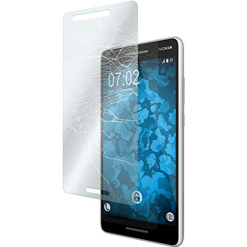 PhoneNatic 2 x Glas-Folie klar kompatibel mit Nokia 2.1 - Panzerglas für Nokia 2.1