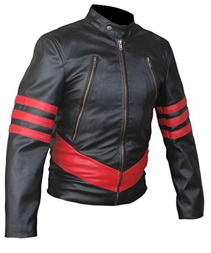 20d75fb6411 Flesh   Hide F H Men s X-Men Origins Wolverine Genuine Leather Jacket 2XL  Black