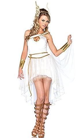 Griechische Göttin Kleid, Sexy Kleid Antik Griechisch, Weiß (Griechische Göttin Kopfschmuck Kostüm)