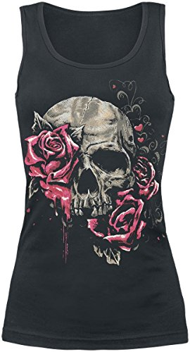 Full Volume by EMP Roses Top donna nero XXL