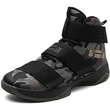 GJRRX Hombre Antideslizante Zapatillas de Deporte Ligeros Zapatos para Correr Transpirable Lace Up Zapatillas de Baloncesto