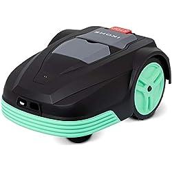 IKOHS CUTBOT - Tondeuse à robot automatique avec batterie, Surface de la pelouse jusqu'à 500 m², Inclinaison maximale de 30%, 4 lames pivotantes pour une découpe précise et silencieuse (Noir)