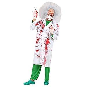 WIDMANN 70791?Adultos Disfraz blutiger Doctor, blutverschmierter Bata de laboratorio, tamaño S