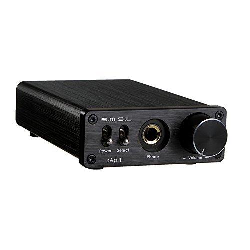 SMSL SAPII HiFi Stereo Amplificatore Per Cuffie Con Ingressi da 2 Ingressi TPA6120A2 Nero