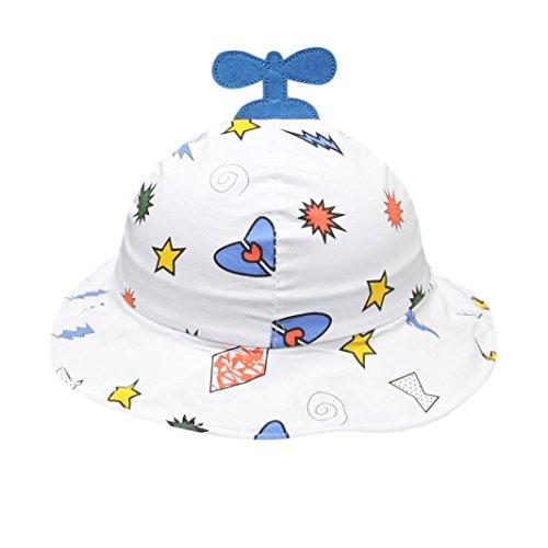inder Mädchen Cartoon-Muster Eimer Hüte Sun Helmet Cap Headwear (Blau) (Eimer Hüte Für Kinder)