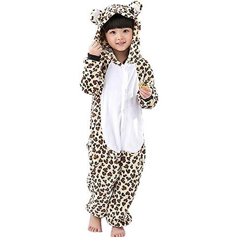 UDreamTime Enfant Unisexe Ensemble de Pyjama motif animaux Costume Leopard XL
