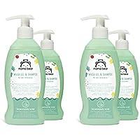 Marca Amazon- Mama Bear  Gel y champú  para bebés (Fórmula sin lagrimas), 4 botellas  4x200ml