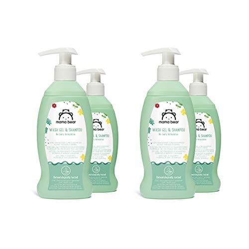 Amazon-Marke: Mama Bear Baby-Waschgel & Shampoo (Keine-Tränen-Formel), 4 Flaschen,  4x200ml